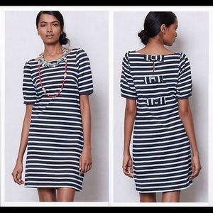 Anthropologie Postmark Striped Bow Dress